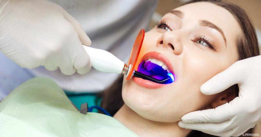 أضرار تبييض الاسنان بالليزر